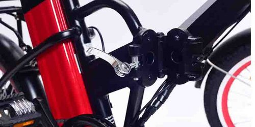 Electric bike with battery on seat tube